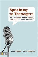 Speaking to Teenagers Paperback