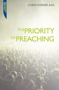 Priority Of Preaching, The