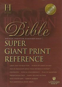 HCSB Super Giant Print Reference Burgundy (Red Letter Edition)