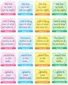 Sticker Pack: Faith Verses