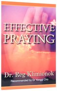 Effective Praying Paperback