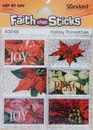 Holiday Poinsettias Sparkle Stickers (36 Pack) (Stickers Faith That Sticks Series) Stickers