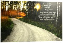 Poster Small: Trust in the Lord, Road in Forest