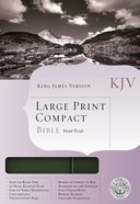 KJV Cornerstone Large Print Compact Black/Pine Flap (Red Letter Edition) Bonded Leather