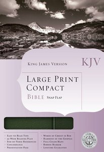 KJV Cornerstone Large Print Compact Black/Pine Flap (Red Letter Edition)