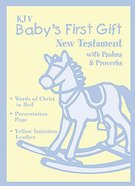 KJV Baby's First Gift New Testament Bible With Psalms & Proverbs Yellow Imitation Leather