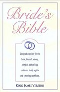 KJV Special Occasion and Bride's Bible White Velva Imitation Leather