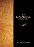NASB Macarthur Study Burgundy Indexed Bonded Leather