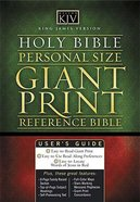 KJV Personal Size Giant Print Reference Deep Plum Bonded Leather
