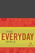 Ncv Everyday Bible Charcoal Checked Imitation Leather