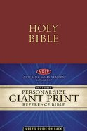 NKJV Personal Size Giant Print Reference Burgundy Supersaver Imitation Leather