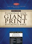 NKJV Personal Size Giant Print Reference Black Supersaver Imitation Leather