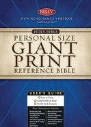 NKJV Personal Size Giant Print Reference Burgundy Supersaver Bonded Leather