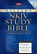 NKJV Study Burgundy Genuine Leather