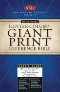 NKJV Centre-Column Giant Print Reference Bible Black Thumb-Indexed Bonded Leather