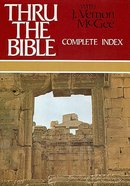 Thru the Bible: Complete Index Hardback