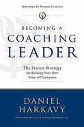 Becoming a Coaching Leader Hardback