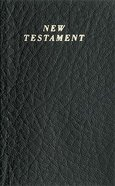 KJV Vest Pocket New Testament Black (Red Letter Edition) Imitation Leather