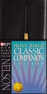 NKJV Checkbook Bible Snap Flap Black (Red Letter Edition) Bonded Leather