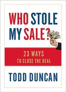 Who Stole My Sale? Hardback
