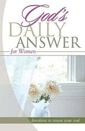 God's Daily Answer: Women Paperback