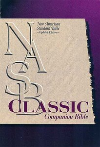 NASB Classic Companion Burgundy Indexed (Nasb 1995 Update)