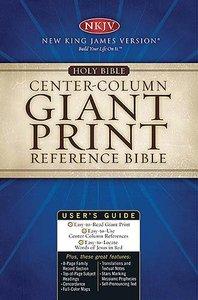 NKJV Centre-Column Giant Print Reference Bible Black Thumb-Indexed