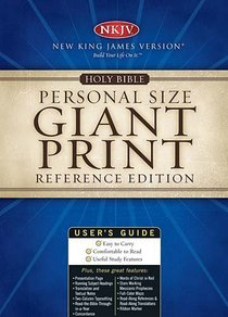 NKJV Personal Size Giant Print Refernce Burgundy Thumb-Indexed