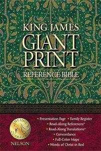 KJV Giant Print Reference Bible Burgundy