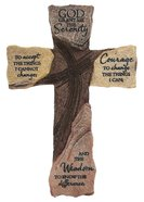 Wall Cross: Serenity Prayer (Polyresin) Plaque