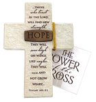 Tabletop Cross: Hope Isaiah 40:31 (Polyresin) Plaque