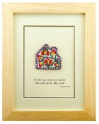 Etp: As For Me And My House Josh 24:14 (Threads Of Yunnan Framed Embroidered Artwork)