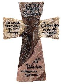 Tabletop Cross: Serenity Prayer (Polyresin)