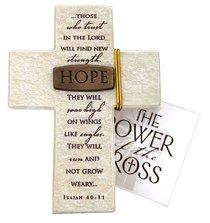 Tabletop Cross: Hope Isaiah 40:31 (Polyresin)