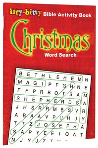 Activity Book Christmas Word Search (Itty Bitty Bible Series)