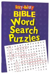 Activity Book Word Search Puzzles (Itty Bitty Bible Series)