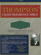 KJV Thompson Chain Reference Green Imitation Leather