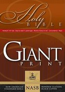NASB Bonded Burgundy Giant Print Handy-Reference Bonded Leather