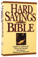 Hard Sayings of the Bible Paperback