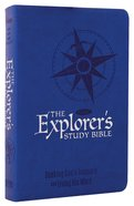 NKJV Explorer's Study Blue Premium Imitation Leather