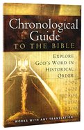 Chronological Guide to the Bible Paperback