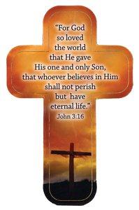 Cross Magnet: For God So Loved the World