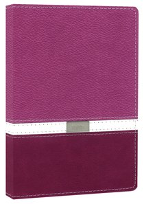NIV Compact Thinline Bible Orchid Razzleberry Duo-Tone (Red Letter Edition)