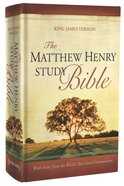 The KJV Matthew Henry Study Bible (Red Letter Edition) Hardback