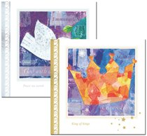 Christmas Boxed Cards: Patchwork Symbols Gold and Silver Foiled