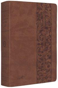 ESV Macarthur Study Bible Natural Brown Woodcut Design (Black Letter Edition)