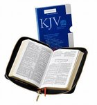 KJV Pocket Reference Black With Zipper (Red Letter Edition) Morocco Leather (Sheepskin)