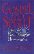 Gospel and Spirit Paperback