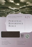 KJV Personal Reference Bible Burgundy Bonded Leather