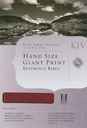 KJV Hand Size Giant Print Reference Burgundy Indexed Genuine Leather